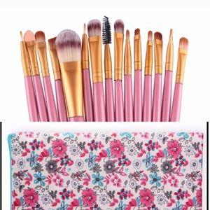 Makeup Brush Set Plus Case